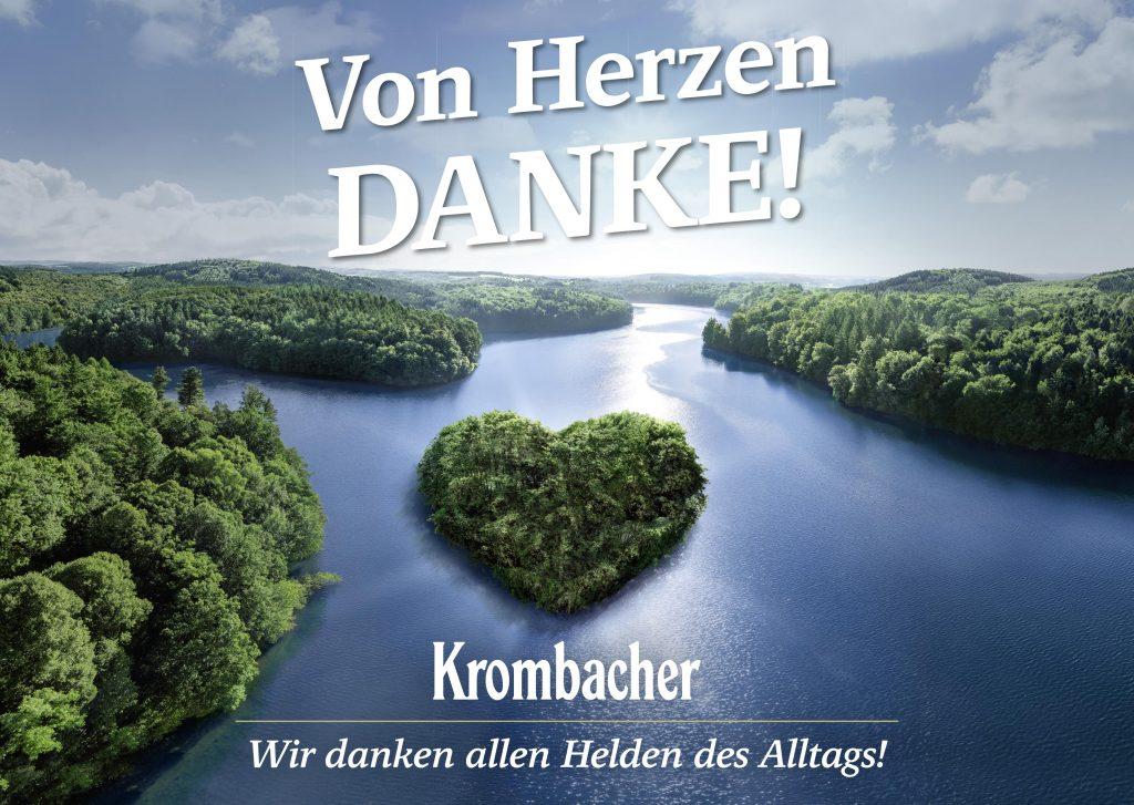 Krombacher danke von Herzen Plakatmotiv
